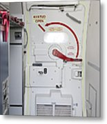 Hatch Door To An Airplane Metal Print by Jaak Nilson