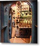 Hatch In Submarine Metal Print