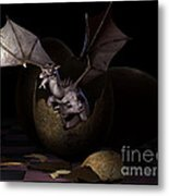 Hatching Dragons Metal Print