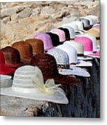 Hats On The Rocks Metal Print
