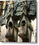 Haunted Birdhouse Metal Print
