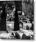 Haunted Cemetery Metal Print