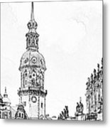 Hausmannsturm In Dresden Germany Metal Print by Christine Till