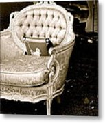 Have A Chair Metal Print