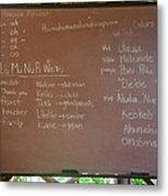 Hawaiian Alphabet Metal Print
