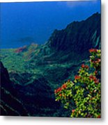 Hawaiian Cliffs Metal Print