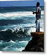 Hawaiian Fisherman Metal Print