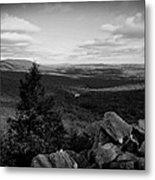 Hawk Mountain Sanctuary Bw Metal Print