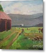 Hay Day Farm Metal Print