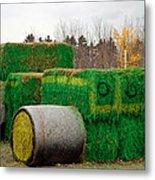 Hay Tractor Metal Print