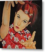 Hayley Williams Portrait Metal Print