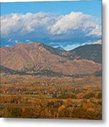 Haystack Autumn View Metal Print