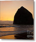Haystack Reflections Metal Print
