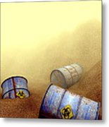 Hazardous Waste Disposal, Artwork Metal Print