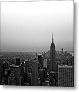 Hazy City Of New York Metal Print