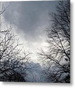 Hazy Cloudy Sky Metal Print