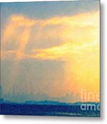 Hazy Light Over San Francisco Metal Print by Wingsdomain Art and Photography