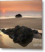 Hazy Oregon Sunset Metal Print