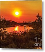 Hazy Sunrise Metal Print