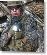 Hdr Image Of A German Army Soldier Metal Print