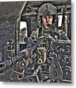 Hdr Image Of A Uh-60 Black Hawk Door Metal Print