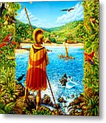 He Hula Ali'i Metal Print by Anne Wertheim