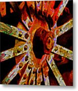 He Spoke Of Colours And Textures Metal Print