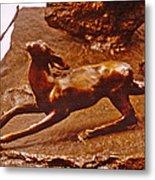 He Who Saved The Deer - Deer Detail Metal Print