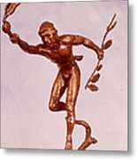 He Who Saved The Deer - Native American Youth Detail Metal Print