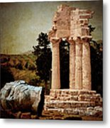 Head At Temple Of Castor And Pollux Metal Print