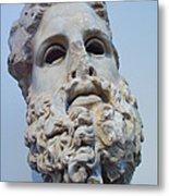 Head Of Zeus At The Acropolis Museum Metal Print
