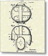 Headgear 1926 Patent Art Metal Print by Prior Art Design