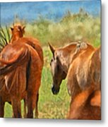 Heading Home Painterly Metal Print