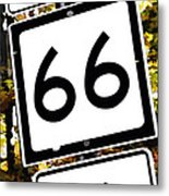 Heading West On Route 66 Metal Print