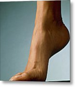 Healthy Foot Of A Woman, Raised Onto Its Toes Metal Print