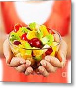 Healthy Fruit Salad Metal Print by Anna Om