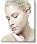 Healthy Young Woman Metal Print by
