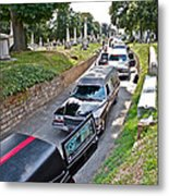 Hearses At Laurel Hill Cemetery Metal Print