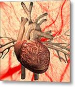 Heart, Computer Artwork Metal Print by Equinox Graphics
