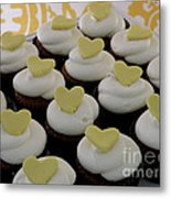 Heart Cupcakes Metal Print