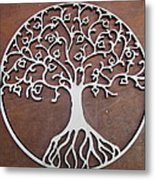 Heart-fruit Tree Metal Print by Keith Cichlar