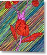 Heart Made Of Roses Metal Print by Kenal Louis