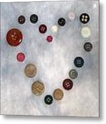 Heart Of Buttons Metal Print