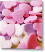 Heart Shaped Candies Metal Print