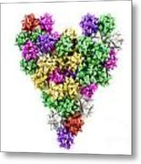 Heart Shaped Christmas Bows  Metal Print