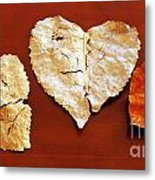 Heart Shaped Leaves Metal Print