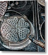 Heart Waffle Iron Metal Print