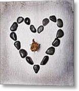 Heart With Rose Metal Print by Joana Kruse
