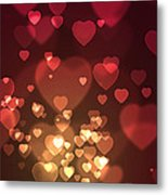 Hearts Background Metal Print
