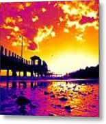 Heat Wave Sunset Metal Print